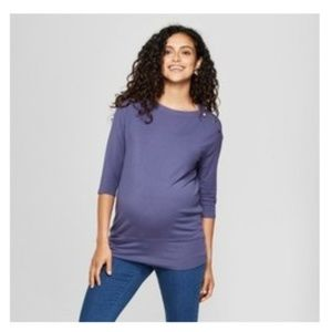 Isabel Maternity Size XL Purple Sleeve Top